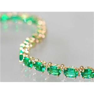 B001, Russian Nanocrystal Emerald, Gold Bracelet