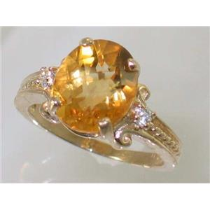 R136, Citrine, Gold Ring