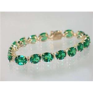 B003, Russian Nanocrystal Emerald Gold Bracelet