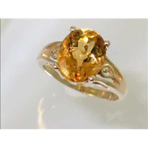 R139, Citrine, Gold Ring