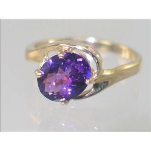 R186, Amethyst, Gold Ring