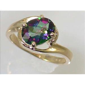 R186, Mystic Fire Topaz, Gold Ring