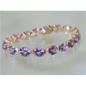 B003, Quantum Cut Amethyst Gold Bracelet