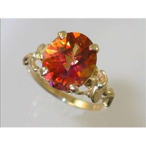 R154, Twilight Fire Topaz, Gold Angel Ring