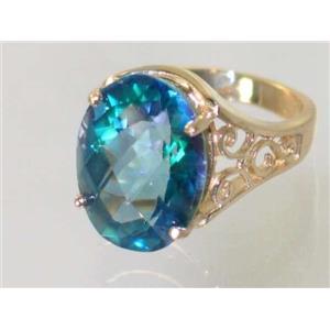 R049, Neptune Garden Topaz, Gold Ring