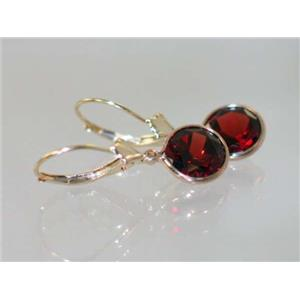 E111, Mozambique Garnet, 14k Gold Earrings