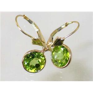 E111, Peridot, 14k Gold Earrings