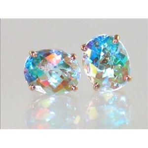 E102, Mercury Mist Topaz, 14k Gold Earrings