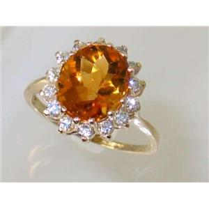 R283, Citrine, Gold Ring