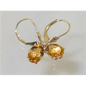 E007, Citrine, 14kGold Earrings