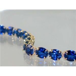 B003, Created Sapphire Gold Bracelet