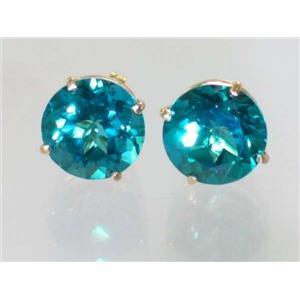 E212, Paraiba Topaz, 14k Gold Earrings