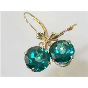 E217, Paraiba Topaz, 14k Gold Earrings
