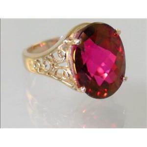 R049, Crimson Topaz, Gold Ring