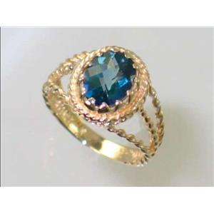 R070, Neptune Garden Topaz, Gold Ring