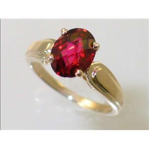 R058, Crimson Topaz, Gold Ring