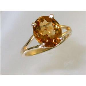 R132, Citrine, Gold Ring