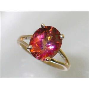 R132, Twilight Fire Topaz, Gold Ring