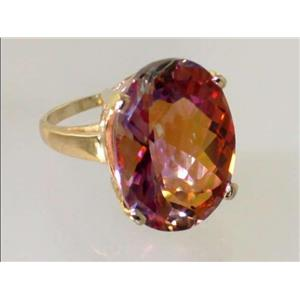 R217, Twilight Fire Topaz, Gold Ring
