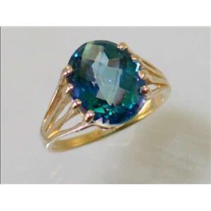 R280, Neptune Garden Topaz, Gold Ring