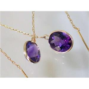 E105, Amethyst, 14k Gold Threader Earrings
