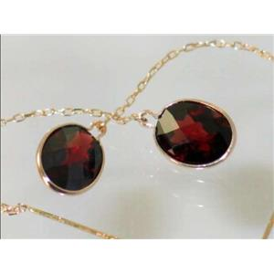 E105, Mozambique Garnet, 14k Threader Earrings