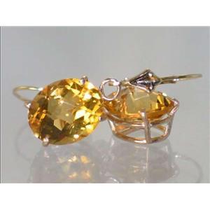 E207, Citrine, 14k Gold Earrings