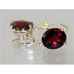 E207, Mozambique Garnet, 14k Gold Earrings