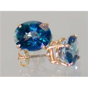 E102, Neptune Garden Topaz, 14k Gold Earrings