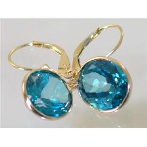 E201, Paraiba Topaz, 14k Gold Earrings
