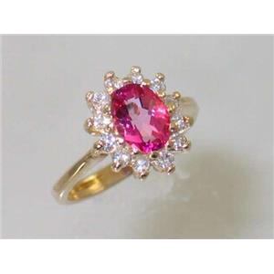 R235, Pure Pink Topaz, Gold Ring
