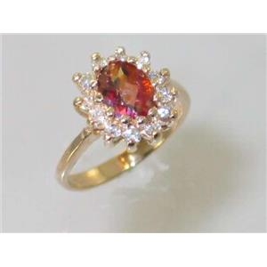 R235, Twilight Fire Topaz, Gold Ring