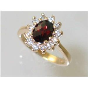 R235, Mozambique Garnet, Gold Ring