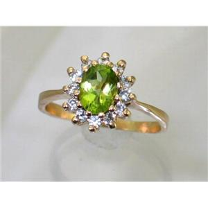 R235, Peridot, Gold Ring