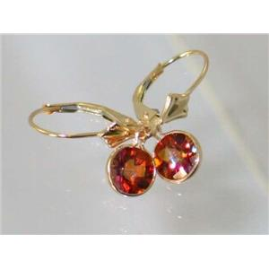 E011, Twilight Fire Topaz, 14k Gold Earrings