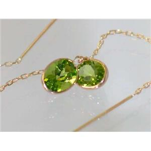 E005, Peridot, 14k Gold Threader Earrings