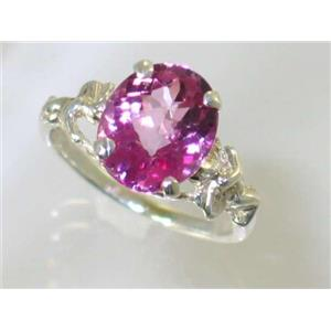 Pure Pink Topaz, 925 Sterling Silver Ring, SR154