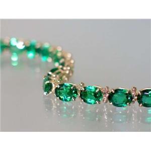 B002, Russian Nanocrystal Emerald, Gold Bracelet