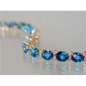B002, Neptune Garden Topaz Gold Bracelet