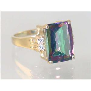 R201, Mystic Fire Topaz, Gold Ring