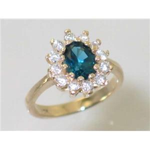 R235, London Blue Topaz, Gold Ring
