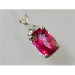 SP042, Pure Pink Topaz 925 Sterling Silver Pendant
