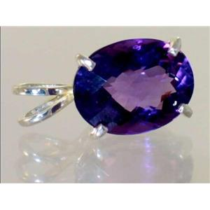 SP004, Amethyst, 925 Sterling Silver Pendant