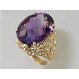 R291, Amethyst, Gold Ring