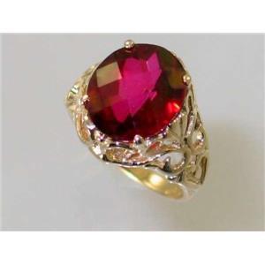 R114, Crimson Topaz, Gold Ring