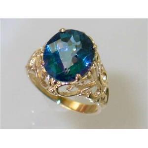 R114, Neptune Garden Topaz, Gold Ring