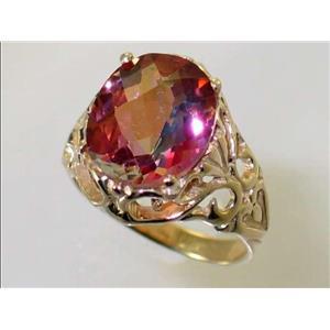 R114, Twilight Fire Topaz, Gold Ring