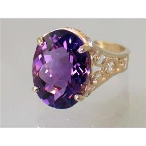 R049, Amethyst, Gold Ring