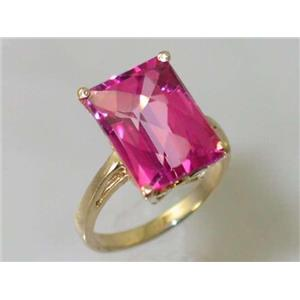 R189, Pure Pink Topaz, Gold Ring
