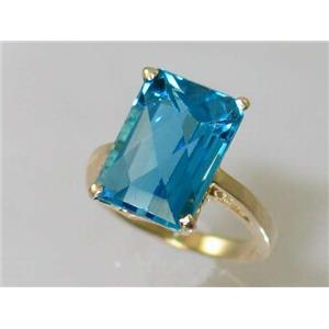 R189, Swiss Blue Topaz, Gold Ring